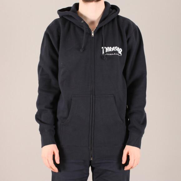 Thrasher - Thrasher Logo Zip Hooded Sweatshirt