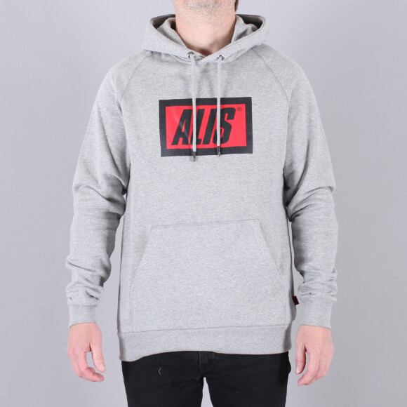 Alis - Alis Classic Box Logo Hoodie Sweatshirt