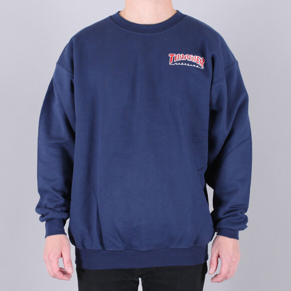 Thrasher - Thrasher Outlined Embroidery Sweatshirt